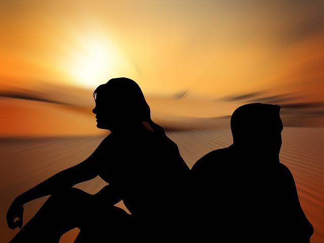 man en vrouw in rouw